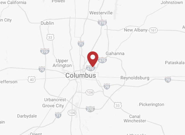map of columbus, ohio