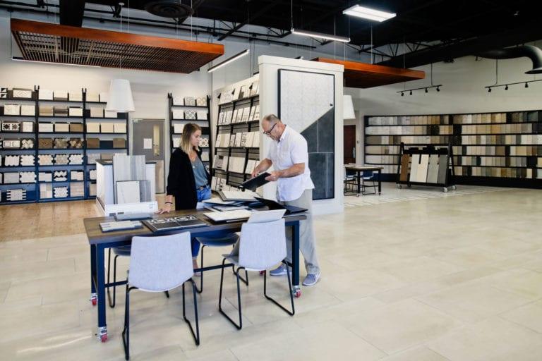 Helping customer in Tile